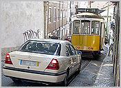 Táxis e eléctrico deLisboa