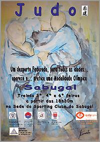Cartaz da Secção de Judo do Sporting Clube doSabugal