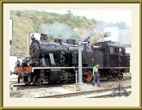 Comboio a carvão na linha do Tua - Imagem da Semana (25-6-2007)
