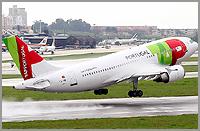 Avião da TAP no Aeroporto daPortela