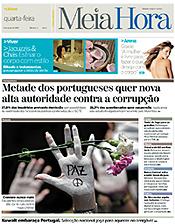 «MeiaHora» - Primeira página do número1