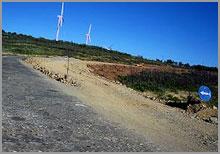 Obras na estrada deMalcata