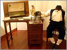 Telefonia, realejo e telefone numa casaantiga