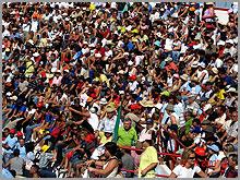 Um mar de gente na Praça de Aldeia daPonte