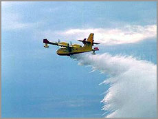 Os Canadair ajudaram no combate às chamas