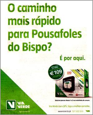 Via Verde para Pousafoles do Bispo