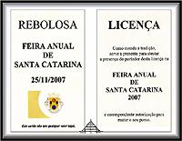 Licença da Feira Anual de Santa Catarina (Rebolosa) – Imagem da Semana (26-11-2007)
