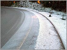 Geada nas estradas coloca circulação emperigo