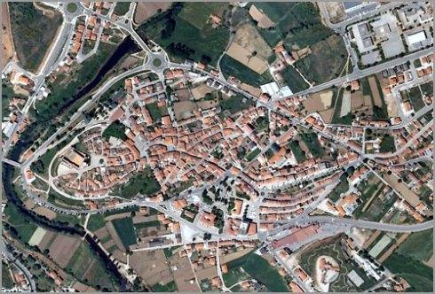 Imagem aérea da cidade doSabugal