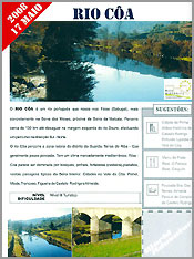 Rio Coa incluido na Rota do TurismoActivo