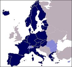 O novo mapaSchengen