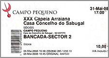 Bilhete para Capeia Arraiana no Campo Pequeno