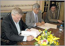 Manuel Rito e Carlos Reis - Assinatura do Protocolo