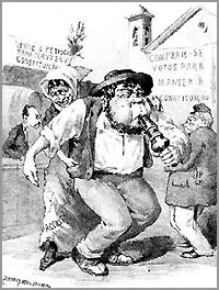 Caricatura de Rafael Bordalo Pinheiro