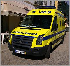 Ambulancia do INEM em Trancoso