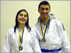 Ana Sofia Figueiredo e Gabriel Almeida, vice-campeões regionais