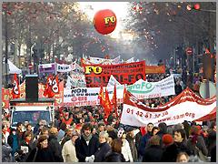 Manifestação em Paris