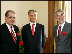 Jaime Gama, Cavaco Silva e José Sócrates - Foto: Ricardo Oliveira - GPM