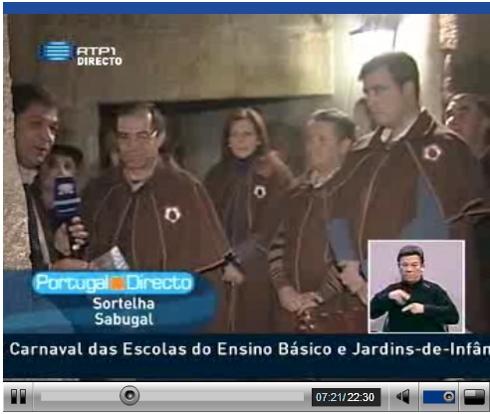 Roteiros Gastronómicos no Portugal em Directo na RTP1 em Sortelha - Sabugal