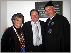 José Carlos Alexandrino, Javier del Vega e esposa