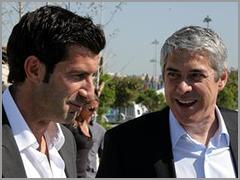 Luís Figo e José Sócrates