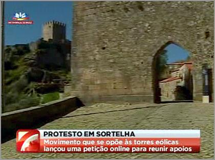 Instalação do Parque Eólico na Aldeia Histórica de Sortelha - Reportagem SIC