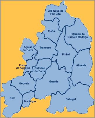 Mapa Distrito Guarda