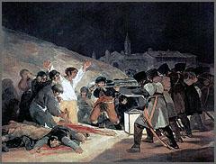 Fuzilamento em Madrid na Guerra Peninsular - quadro de Goya