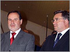 Santinho Pacheco - Governador Civil da Guarda - António Robalo - Presidente Câmara Municipal Sabugal