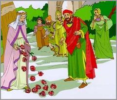 Milagre das Rosas - Rainha Santa Isabel - D. Dinis - Castelo do Sabugal