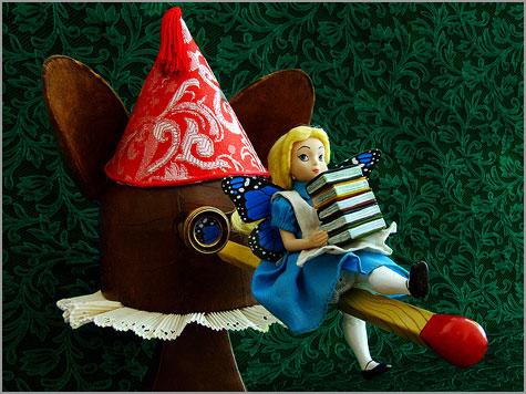 Pinóquio e Alice no País das Maravilhas