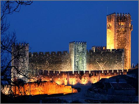 Castelo Cinco Quinas Sabugal - Noite