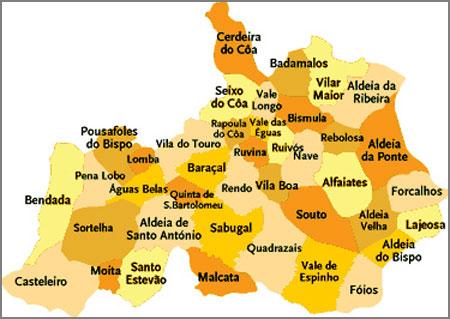 Mapa Concelho Sabugal