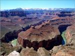 Vista do Grand Canyon, num meandro do rio Colorado