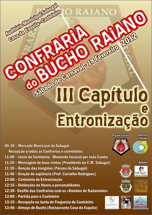 III Capítulo Entronização Confraria Bucho Raiano - Sabugal