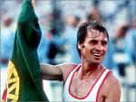 Carlos Lopes, medalha de ouro na Maratona, nos Jogos Olímpicos de Los Angeles (1984)